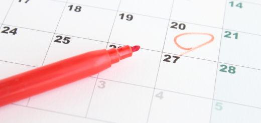 カレンダー月経予定日