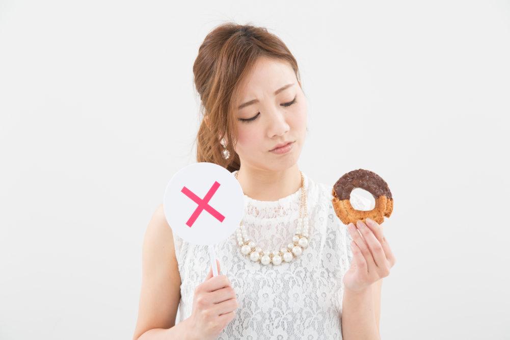 ダイエット誘惑女性