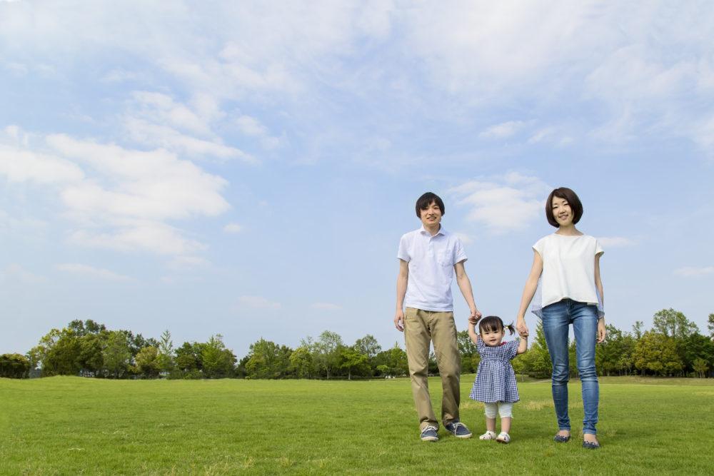 家族で公園へ