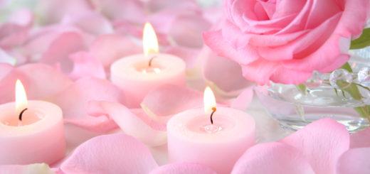 バラとアロマキャンドル