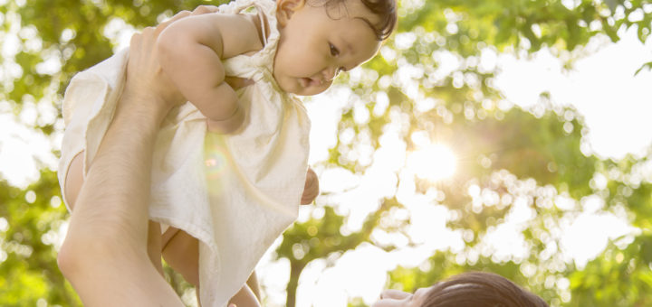 不妊後赤ちゃん抱っこ